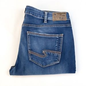 Cropped Slim Silver Jeans
